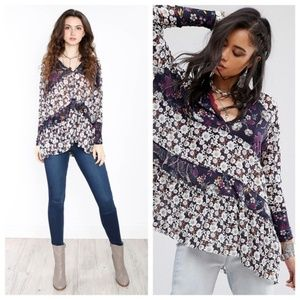 Free People Isabelle Printed Tunic Size XS